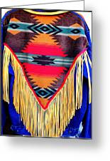 Native American Shawl  Greeting Card