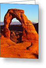 Natural Arch In A Desert, Delicate Greeting Card