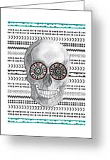 Navajo Skull Greeting Card