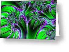 Neon Fantasy Greeting Card