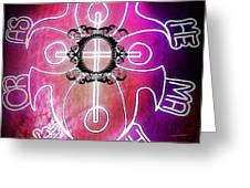 Neon Lights Greeting Card