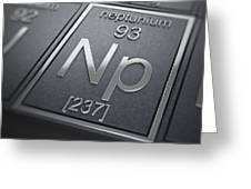 Neptunium Chemical Element Greeting Card