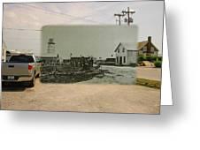 Net Mending At Sakonnet Point In Little Compton Rhode Island Greeting Card