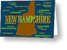 New Hampshire State Pride Map Silhouette  Greeting Card
