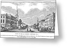 New Jersey Newark, 1844 Greeting Card