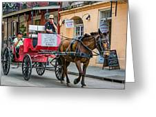 New Orleans - Carriage Ride Greeting Card