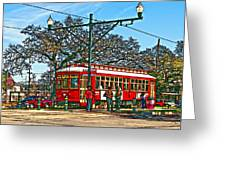New Orleans Streetcar Painted Greeting Card