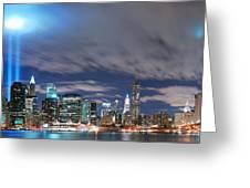 New York City Manhattan Panorama  Greeting Card