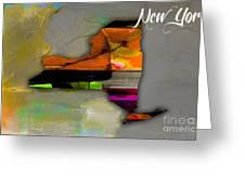 New York Map Watercolor Greeting Card