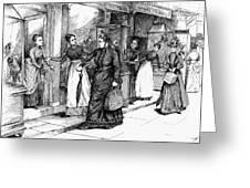 New York Milliner, 1889 Greeting Card