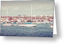 Newport Beach Panorama Greeting Card