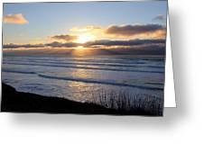 Newport Oregon Sunset Greeting Card