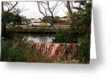 Newton Creek Greenpoint Greeting Card
