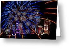 Niagara Fireworks Greeting Card