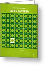 No120 My Green Lantern Minimal Movie Poster Greeting Card by Chungkong Art