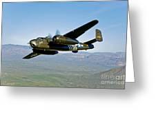 North American B-25g Mitchell Bomber Greeting Card