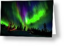 Northern Lights, Lapland, Sweden Greeting Card