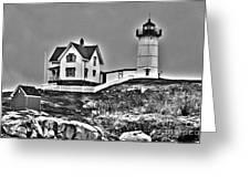 Nubble Lighthouse Cape Neddick Maine Greeting Card by Glenn Gordon
