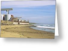 Nuclear Power Plant On The Beach, San Greeting Card