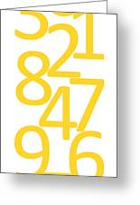 Numbers In Yellow Greeting Card