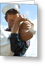 Nurse And Sailor Kissing Statue Unconditional Surrender Closeup  Greeting Card