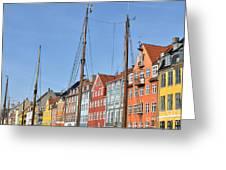 Nyhavn In Copenhagen Denmark - Famous Tourist Attraction Greeting Card