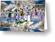 Oakland A's High Five Greeting Card