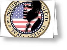 Obama-1 Greeting Card