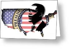 Obama-2 Greeting Card