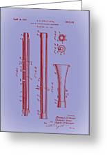 Oboe Patent 1931 Greeting Card