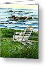 Ocean Chair Greeting Card