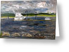Ocean Inlet Marina Greeting Card