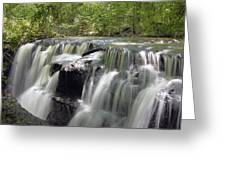 Odom Creek Waterfall Georgia Greeting Card