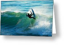 Off The Lip Greeting Card