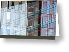 Office Building Windows Greeting Card