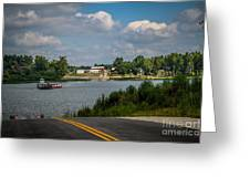 Ohio River At Cave In Rock Illinois Greeting Card