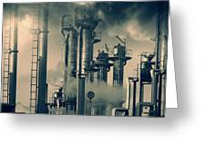 Oil And Gas Power Industry Greeting Card