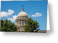 Oklahoma State Capital Dome Greeting Card