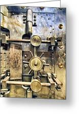 Old Bank Vault In Historic Building Greeting Card