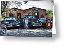 Old Cars On Route 66 Greeting Card