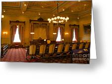 Old House Of Delegates Room Of The Maryland State House Greeting Card