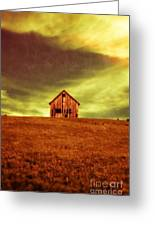 Old House On The Hill Greeting Card by Edward Fielding