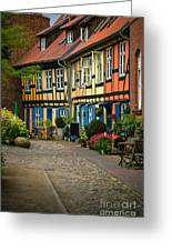 Old Houses At Johannes Kloster Stralsund Greeting Card by David Davies