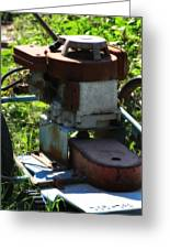 Old Junky Lawn Mower Greeting Card