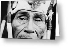 Old Klamath Man Circa 1923 Greeting Card by Aged Pixel