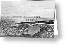 Old Lifeboat Station Tenby Greeting Card