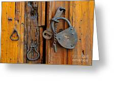 Old Lock, Mexico Greeting Card
