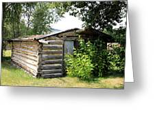 Old Log Homestead Greeting Card