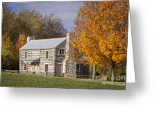 Old Log House Greeting Card