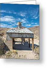 Old Mine On Old Toll Road In Death Valley Greeting Card
